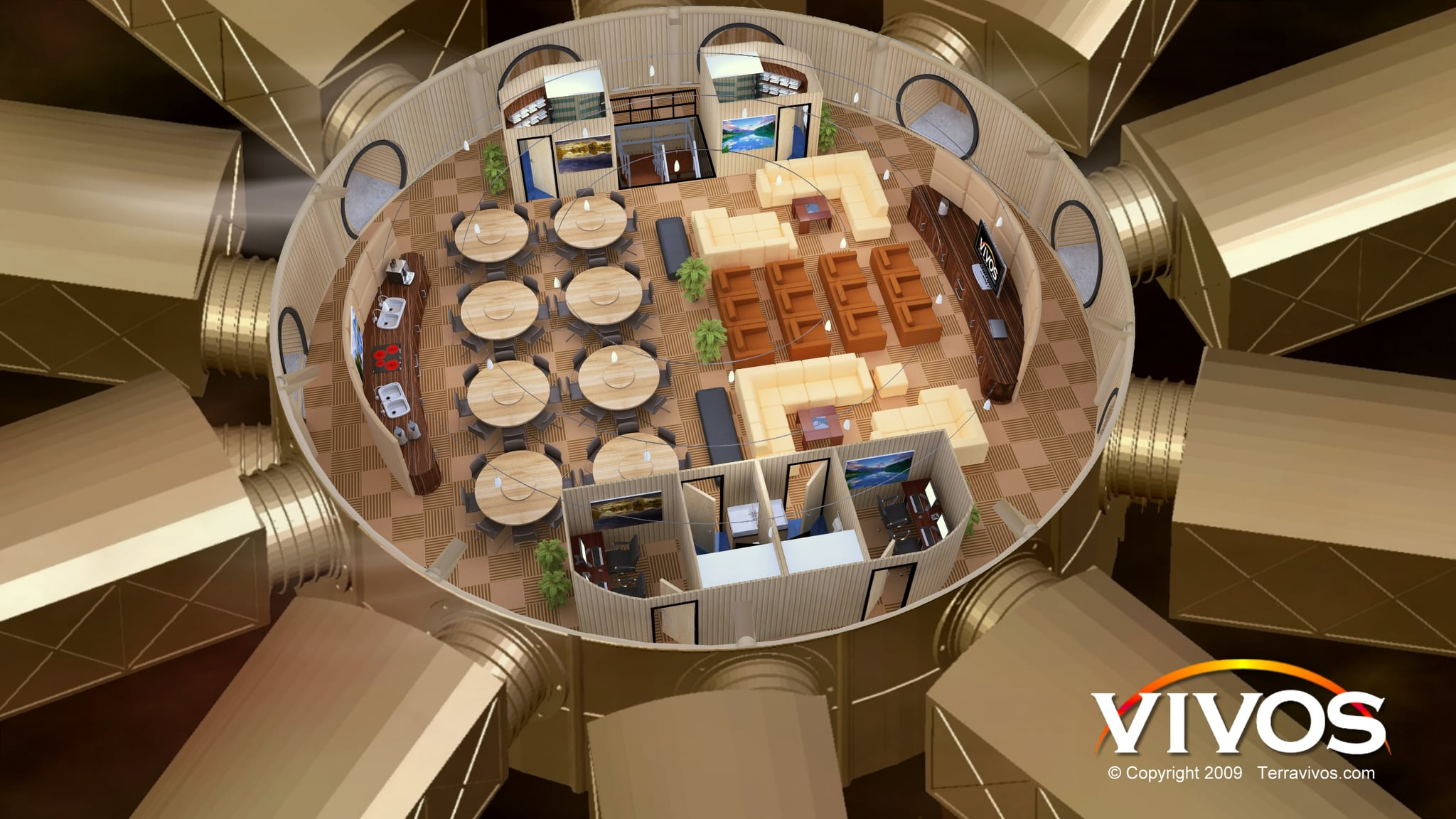 Photos of the Vivos Luxury Bunker