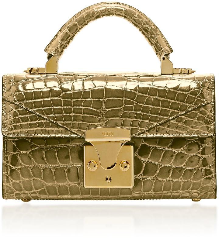 Stalvey 24K Gold Crocodile Mini Top Handle