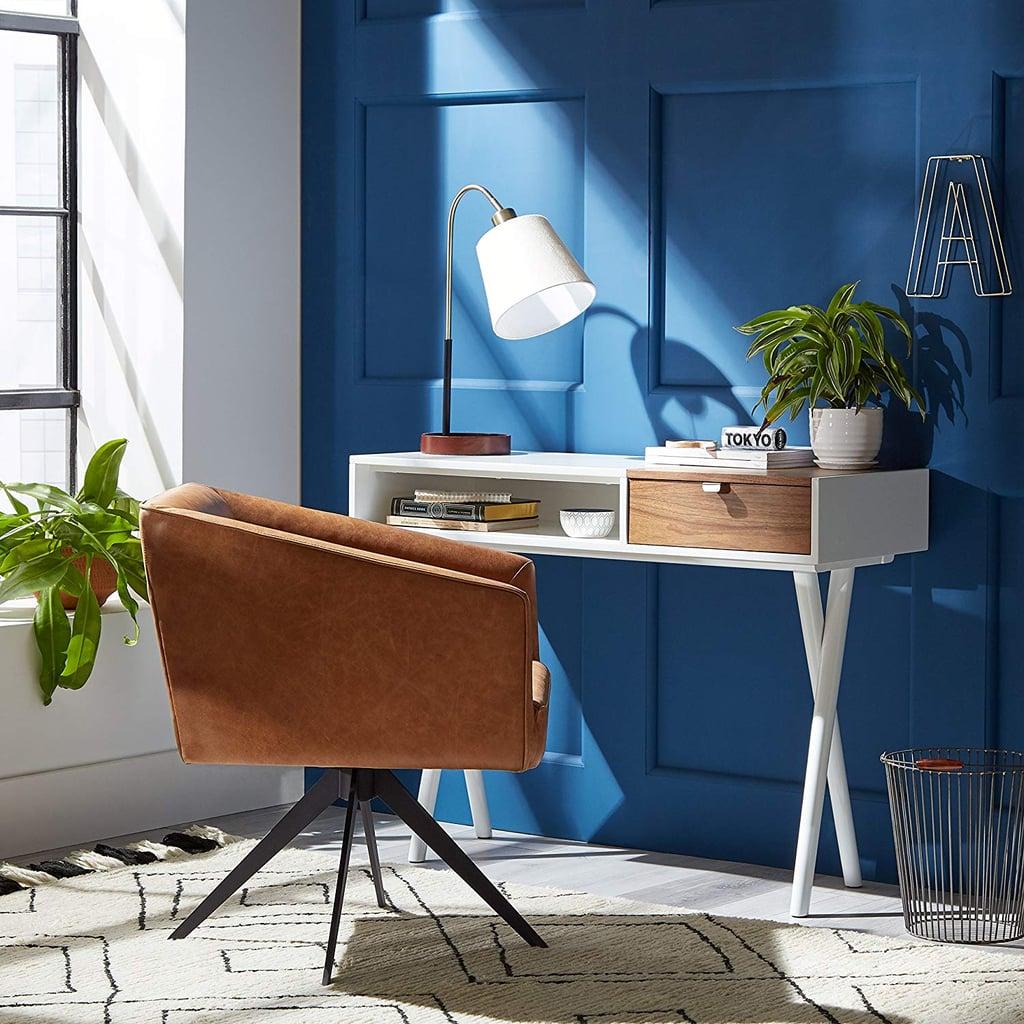 Rivet Modern Cross Legged Home Office Desk