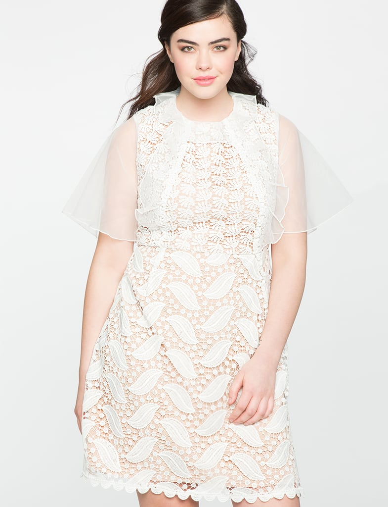 We're all about the cocktail status of this Eloquii Mixed Lace Dress ($130)