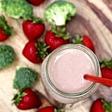 Banana Berry Peanut Butter Broccoli Smoothie