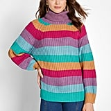 Hit Repeat Cowl Neck Sweater
