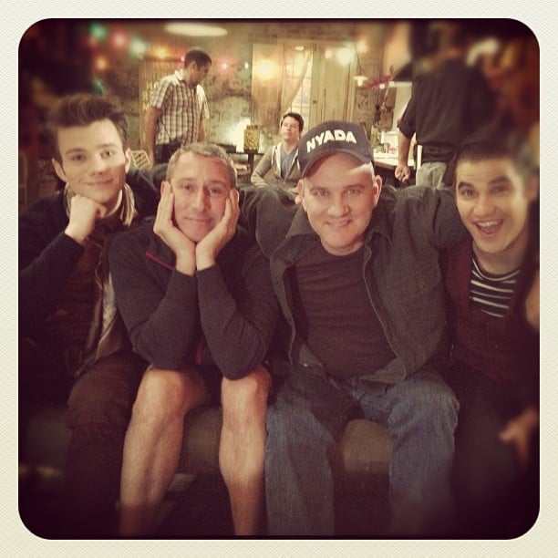 Behold: the return of Mike O'Malley to Glee! Christmas must be around the corner. Source: Instagram user adamshankman