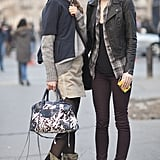 This eclectic duo's got some street-style edge (and legs) for days.