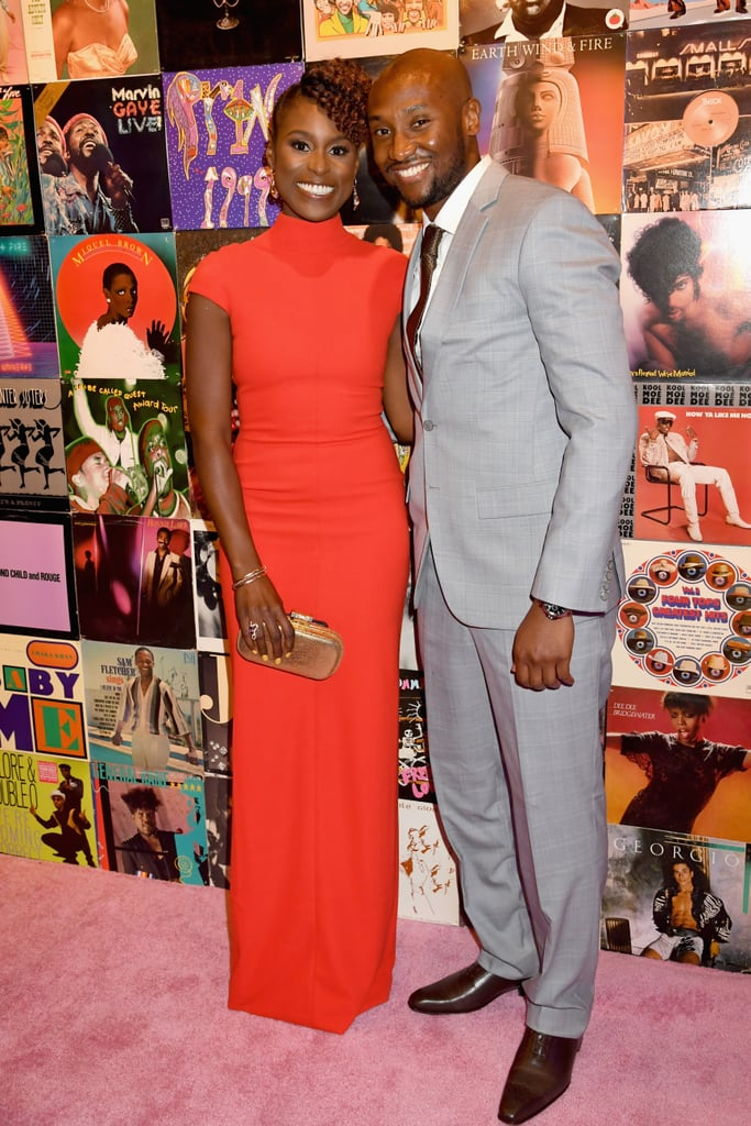 Issa Rae and Louis Diame at the Insecure Premiere Party in 2016