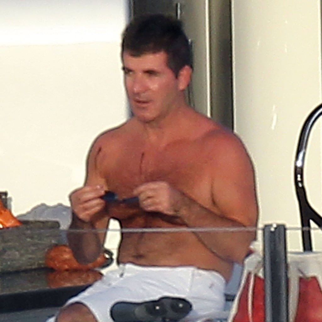 Simon Cowell Shirtless Pictures in St Barts