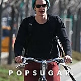 Andrew Garfield Bikes in NYC While Emma Stone Bags an Australian Cover