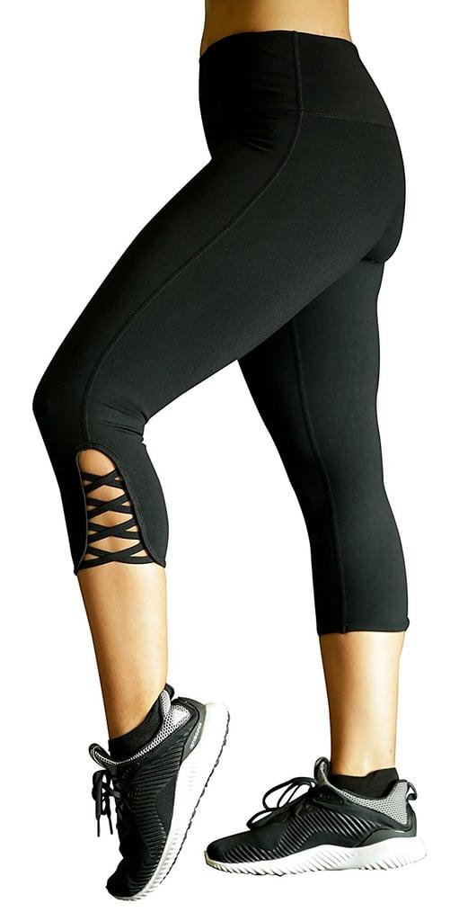 ea539f2def MUV365 Crisscross Strappy Workout Leggings With Hidden Pocket   Best ...