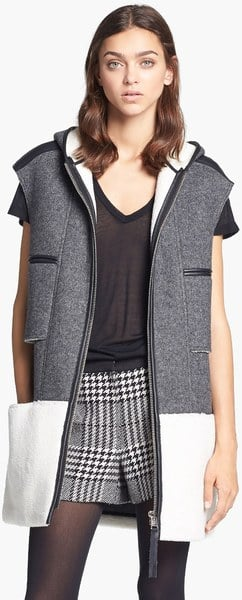 When Fall hits, I'm all about layering — playing with silhouettes, prints, and textures is my M.O. — and this colorblock Mcginn vest ($325) is the ideal transitional topper. I'll stay toasty in the cashmere and shearling fibers without the worry of hiding my entire ensemble. Bonus: it has a hood to battle the weather or bad hair days. — Mandi Villa, contributing editor