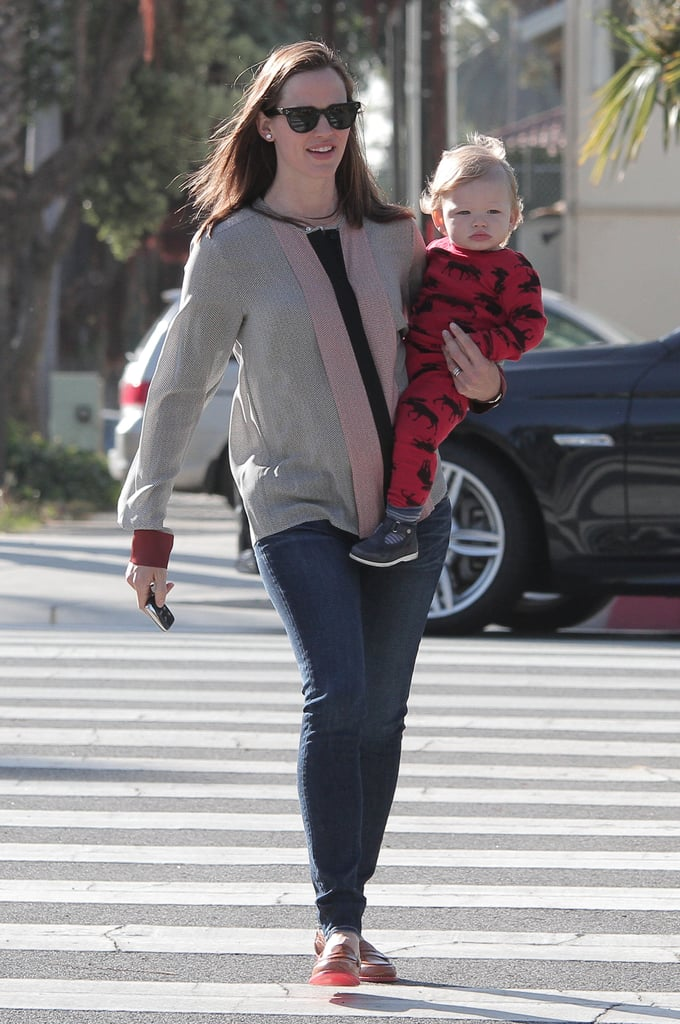 Jennifer Garner carried Samuel on her hip in LA.