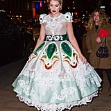Kitty looked like a Disney princess in a Dolce & Gabbana gown during a night out in New York in April 2018.