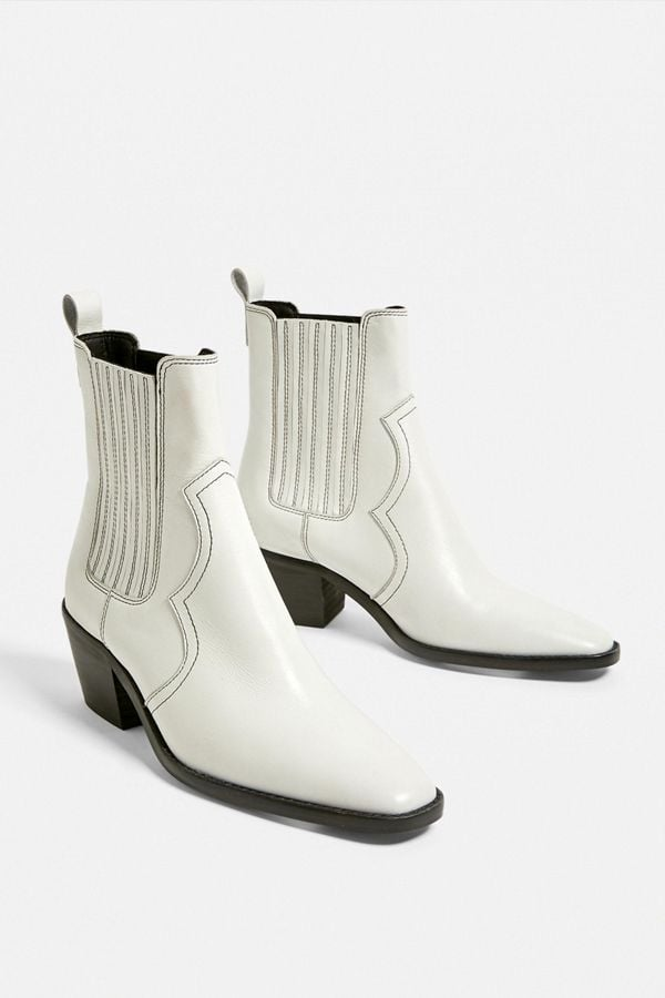 UO Billie Leather Western Boot