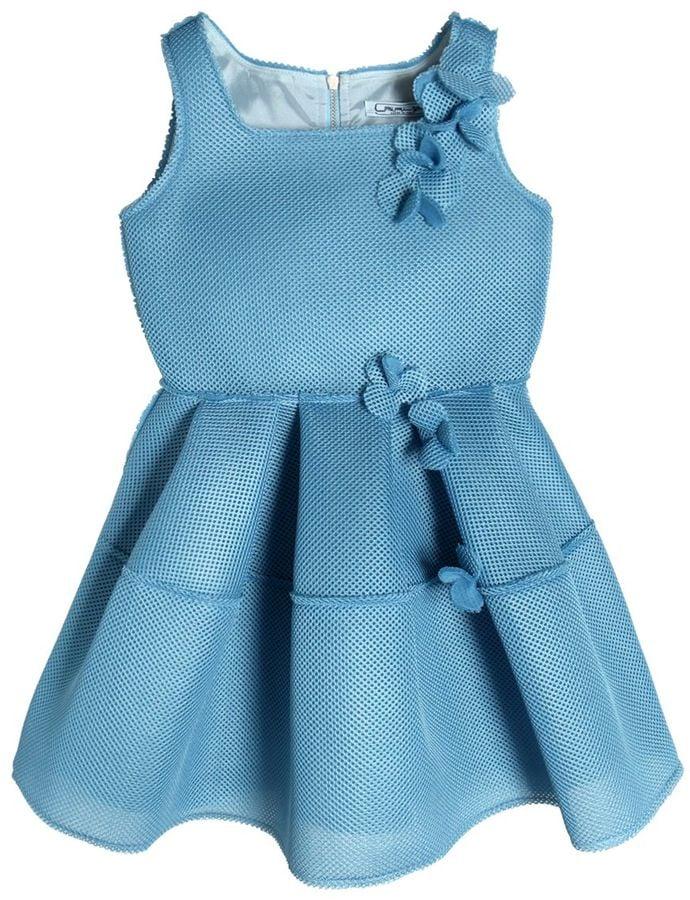 3e9e2f50d4c Sleeveless Floral Neoprene Mesh Dress