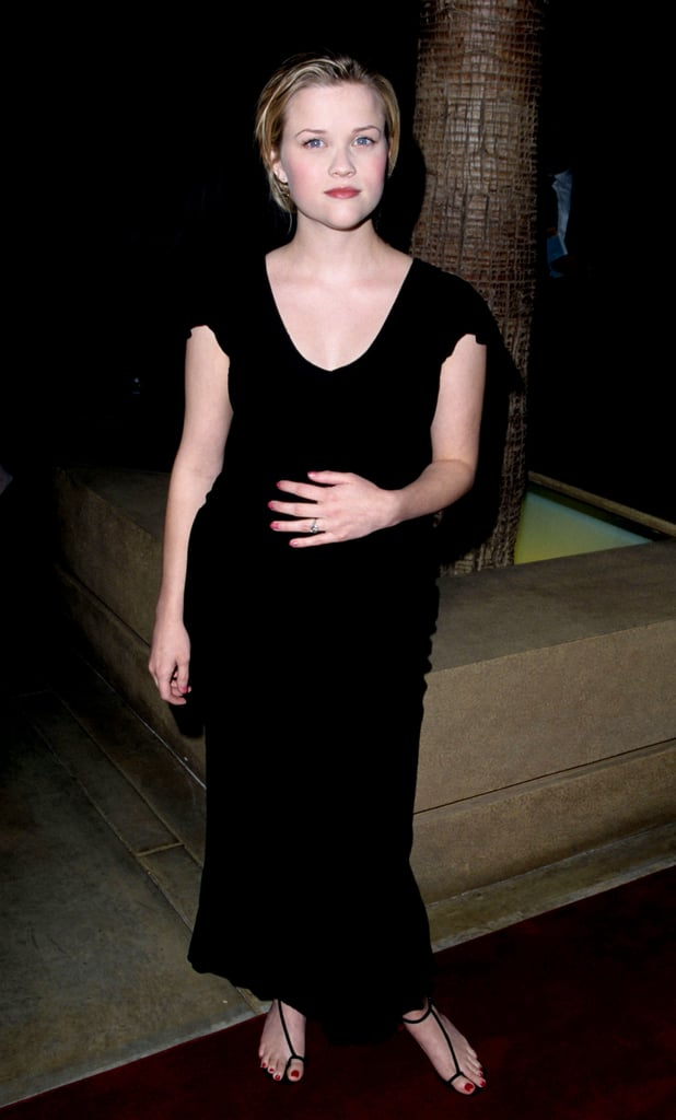 Reese Witherspoon in Black Dress at 1999 Election LA Premiere