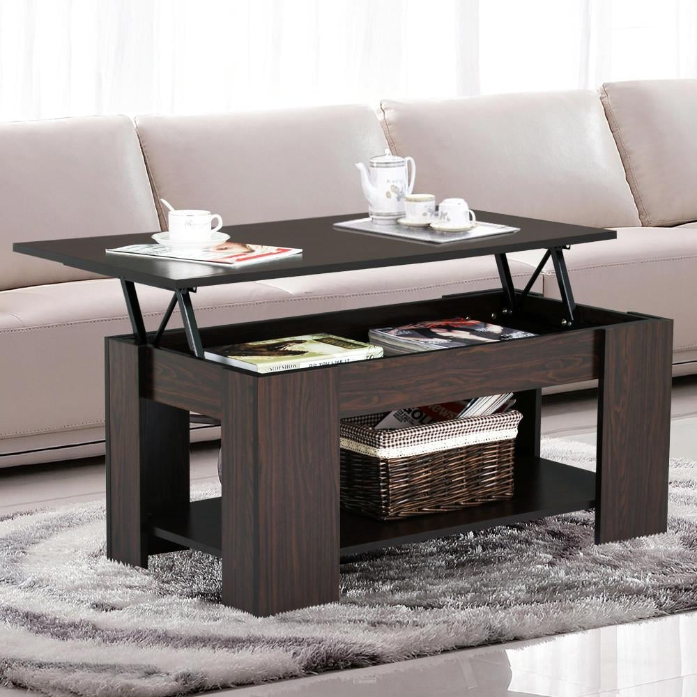 Espresso Coffee Table With Storage: Yaheetech Lift Up Top Coffee Table With Under Storage