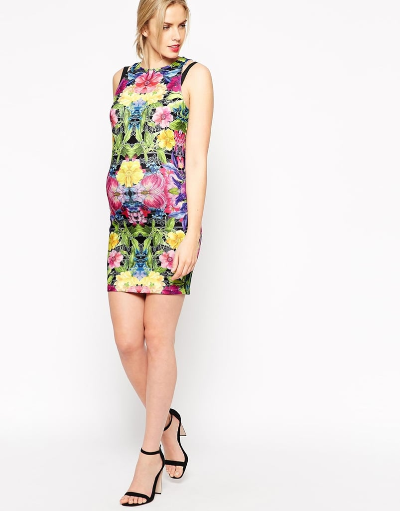 Asos Body-Conscious Dress With Contrast Strap