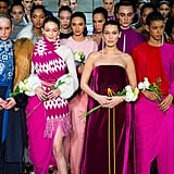 Gigi and Bella Led the Model Pack During the Finale at Prabal Gurung