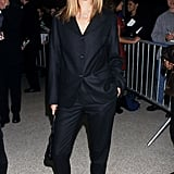 Wearing a black suit to the VH1 Fashion Awards in 1995.