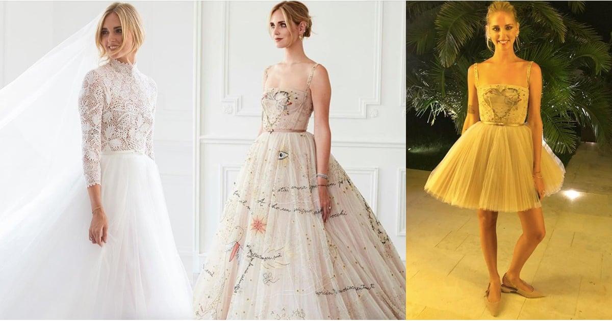 Chiara Ferragni Wedding Dress Pictures Popsugar Fashion