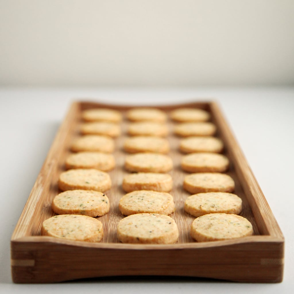 Vegetarian Appetizers: Parmesan, Black Pepper, and Thyme Crackers