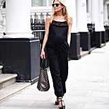 A Jumpsuit and Statement Flats