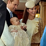 Kate and Will looked like proud parents when they attended George's christening in October 2013.
