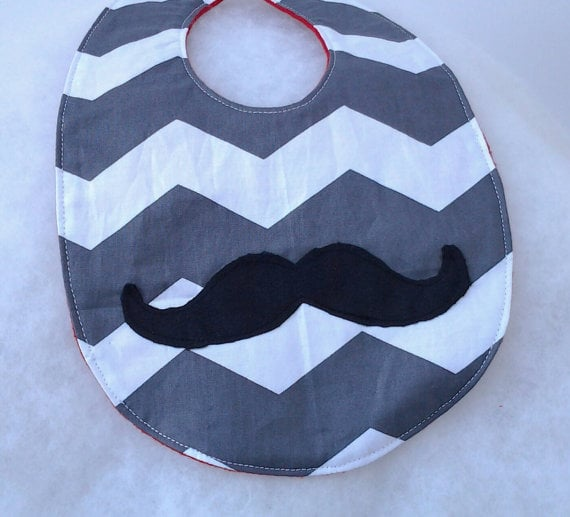 Mustache Baby Bib by Modern Meets Classic