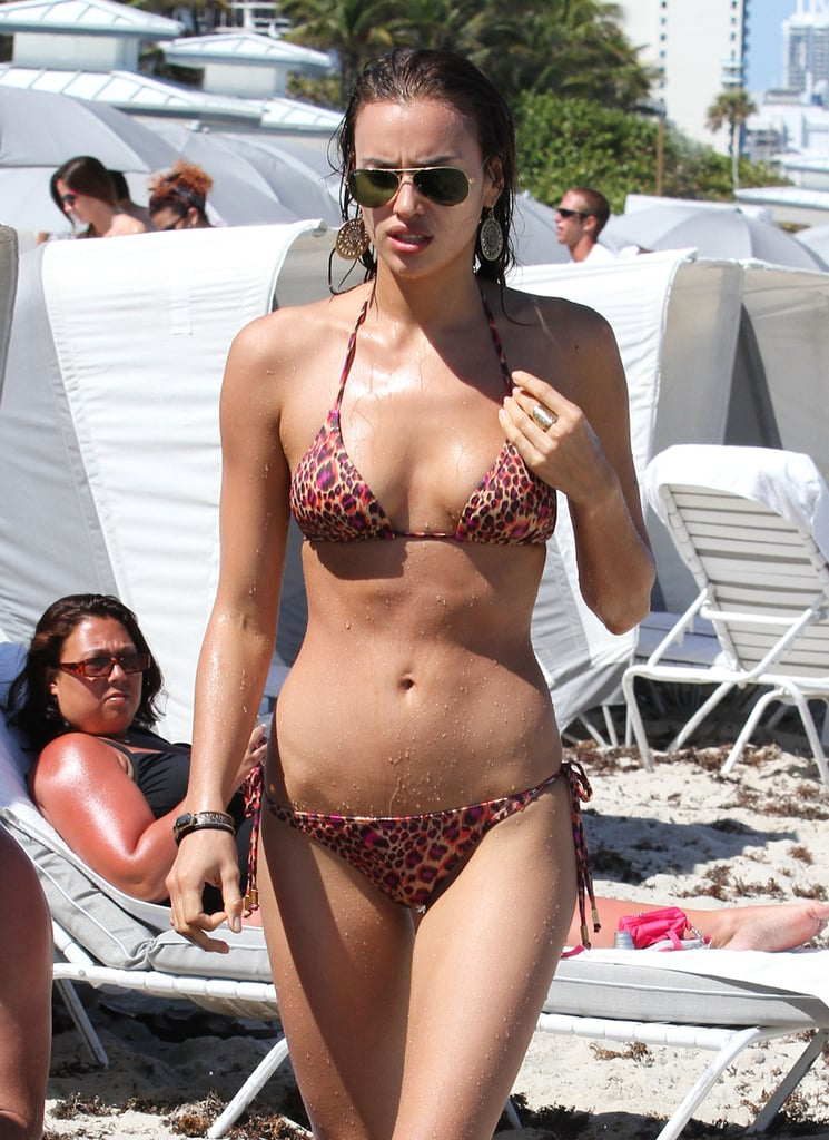 Irina Shayk and Anne V Get Wet and Wild in Their Bright Bikinis