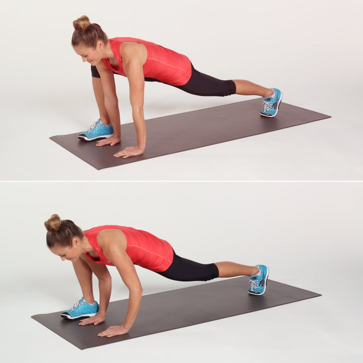 Runner S Lunge With Push Up Core Workout Popsugar