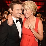 With Jeremy Renner