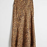 & Other Stories Leopard-Print Midi Skirt