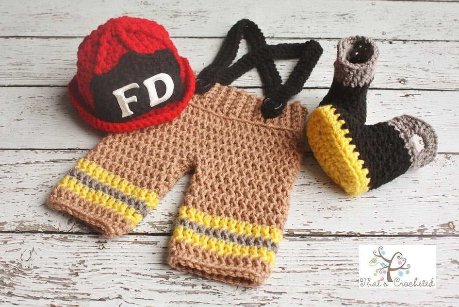 Firefighter Diy Newborn Costumes For Halloween And Photo Shoots