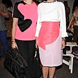 Phoebe Stephens and Annette Stephens gave a lesson in colorblocking at Honor.