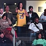 Photos of Rihanna and Her Boyfriend at the Lakers Game