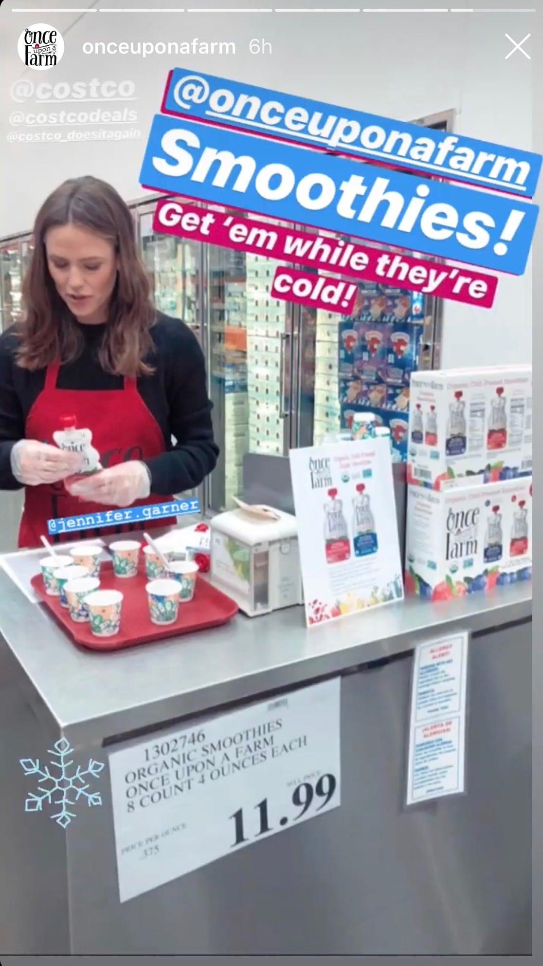 Jennifer Garner Serves Samples At Costco Popsugar Family