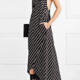 Haider Ackermann Striped Satin Maxi Dress