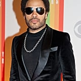 Lenny Kravitz donned sunglasses when arriving to the Kennedy Center.