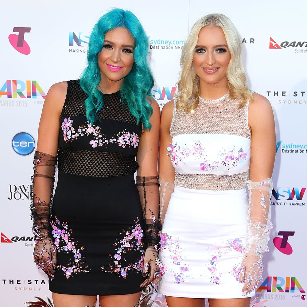 amy and emma sheppard arias red carpet hair and makeup 2015