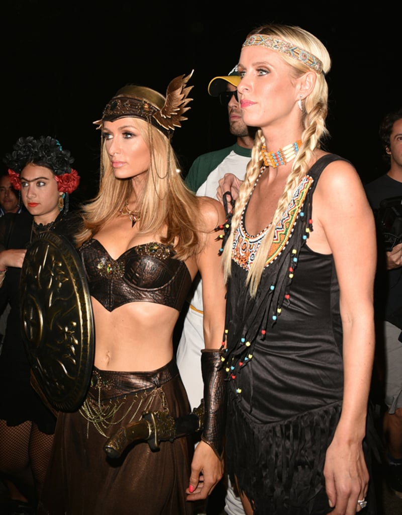 Paris and Nicky Hilton as a Gladiator and Native American