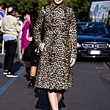 Style Your Leopard-Print Coat With: Jewel-Adorned Heels