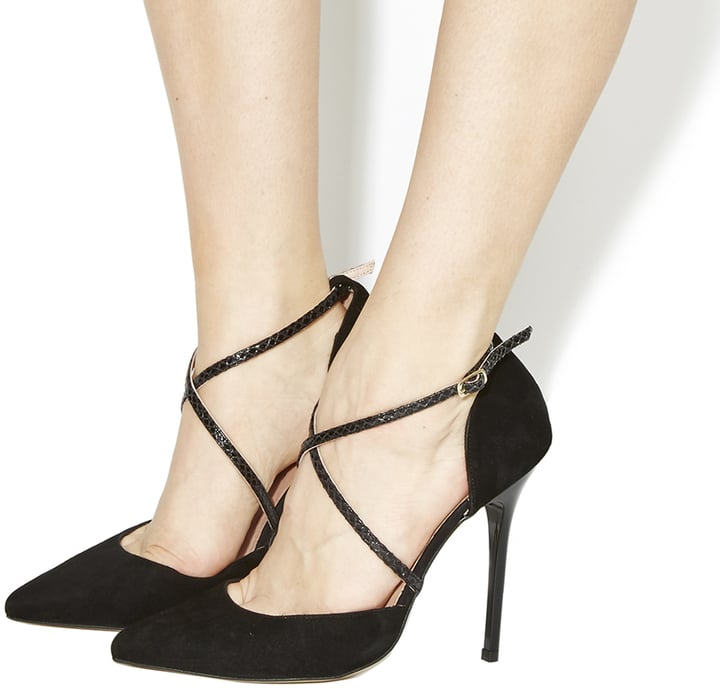 Office Trapped Strappy Point Court Heels (£70)