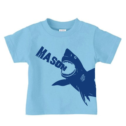 Priceless Kids's Personalized Shark Tee ($16) would be fun for an aquatic-themed birthday — or any day at all!