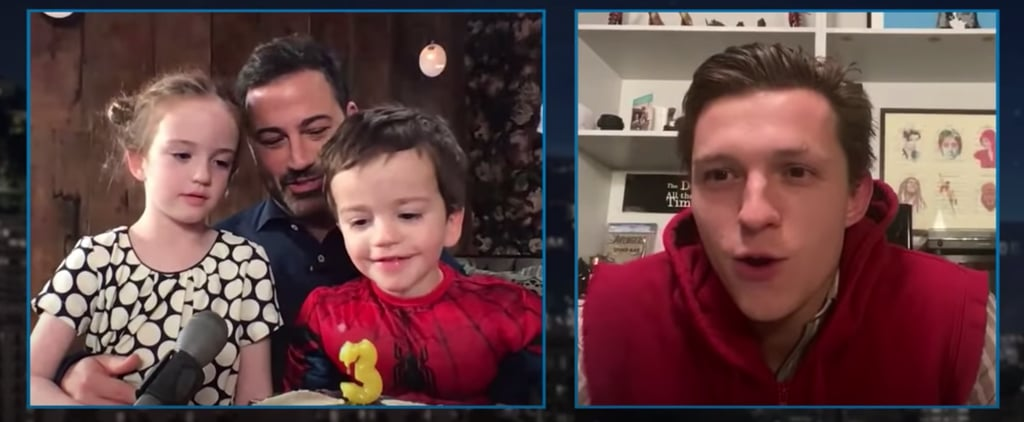 Tom Holland as Peter Parker Surprises Jimmy Kimmel's Son
