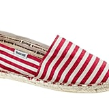 This bright and candy-striped would look great against a pair of white jeans. Soludos For J.Crew Classic Espadrilles in Red White Stripe ($36)