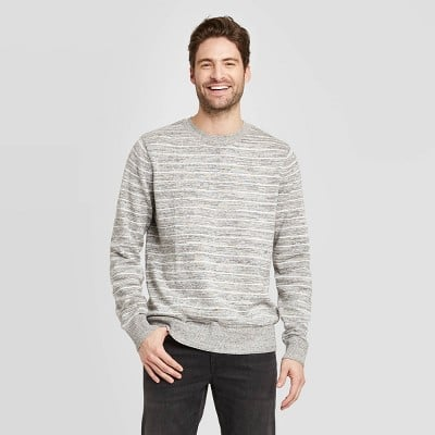 Striped Standard Fit Light Weight Crew Neck Sweater