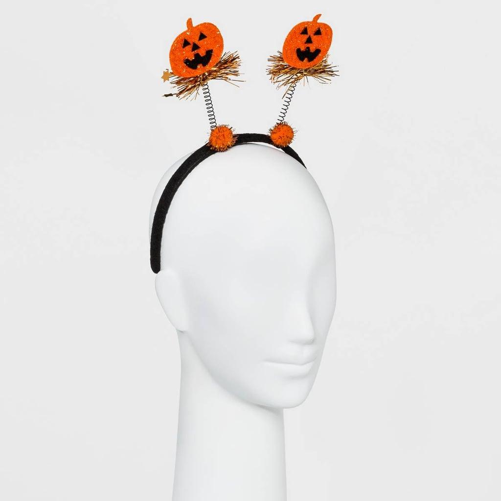 Glitter Pumpkin Headband