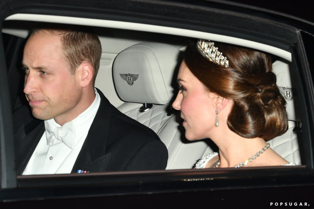 "Kate Middleton truly looked like a princess when she stepped out for Queen Elizabeth II's annual Diplomatic Reception with Prince William at Buckingham Palace on Tuesday night. Kate, who is currently pregnant with her third child, dazzled in a white gown, complete with the Cambridge Lover's Knot Tiara, which was given to the late Princess Diana as a wedding gift from Queen Elizabeth II back in 1981. The Diplomatic Reception is one of the largest parties the queen hosts every year and consists of the queen meeting with representatives from different countries. The lavish event also brought out Prince Charles and Camilla, Duchess of Cornwall.       Related:                                                                                                           Prince William and Kate Middleton's Royal Road to Baby #3               Will and Kate's glamorous outing comes amid reports that Prince Harry has asked William to be his best man at his upcoming wedding to Meghan Markle. According to Us Weekly, ""Harry has several close guy friends, but there's no way he would ask anyone but William to take on the top job."" Prince George and Princess Charlotte are also reported to have roles during their special day."