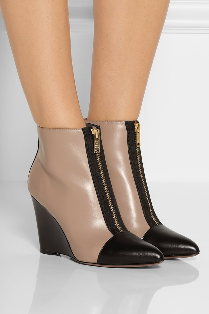 Marc Jacobs Two-Tone Wedge Booties