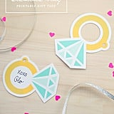 Free bridal shower printables popsugar smart living cocktail table sign diamond ring gift tags negle Choice Image