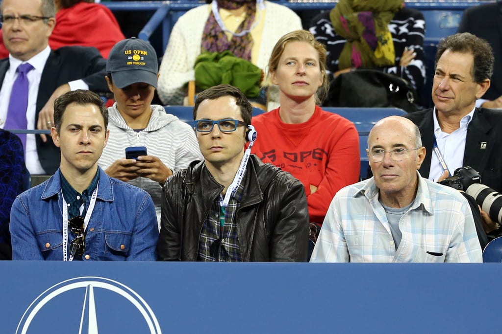 Jim Parsons attended a match at the US Open.